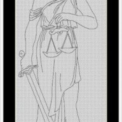 Фемида вышивки крестом